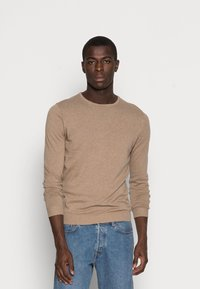 Selected Homme - SLHTOWER CREW NECK  - Stickad tröja - tuffet - 0