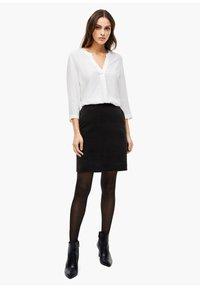 s.Oliver BLACK LABEL - Mini skirt - true black - 1