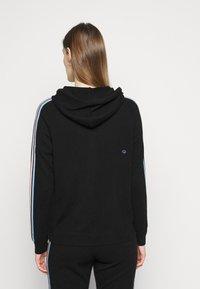 CHINTI & PARKER - STRIPE SLEEVE HOODIE - Sweater met rits - black - 2