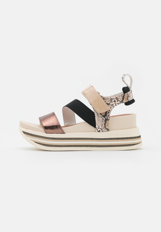 JIL - Korkeakorkoiset sandaalit - beige/multicolour