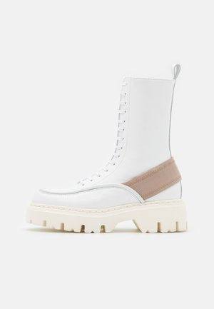 BOOTS - Platform ankle boots - white/nude