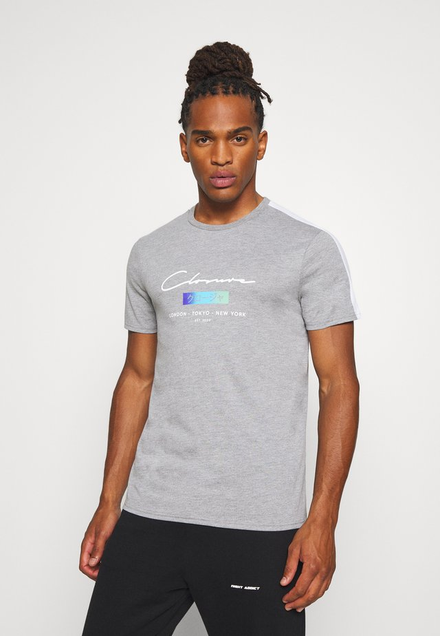 SCRIPT CITY TEE - Print T-shirt - grey