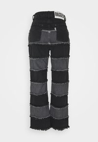 The Ragged Priest - STRIPE PANEL SEAM - Jeansy Straight Leg - charcoal/grey - 1