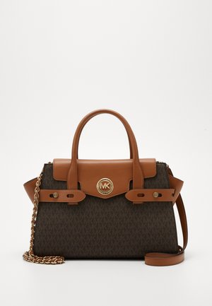 CARMEN FLAP BELTED SATCHEL - Handbag - brown/acorn