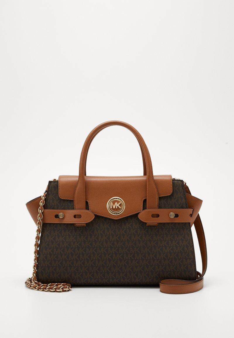 MICHAEL Michael Kors - CARMEN FLAP BELTED SATCHEL - Handbag - brown/acorn