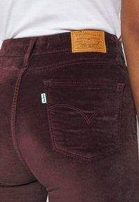 Levi's® - 721 HIGH RISE SKINNY - Jeans Skinny Fit - bordeaux - 4