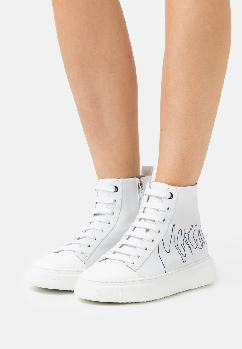 Marc Cain - High-top trainers - white/black