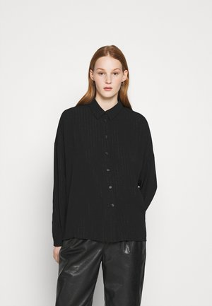 MELLUNA - Button-down blouse - black