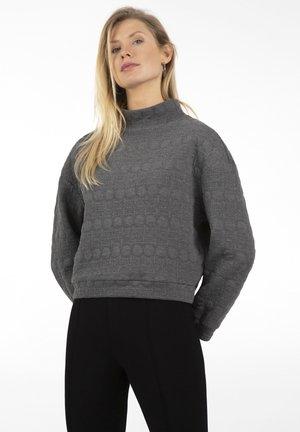 Sweatshirt - grau-melange