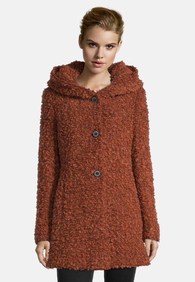 MIT KAPUZE - Short coat - dark orange melange