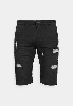 COMMERCIAL KEN HOLES - Jeansshorts - black