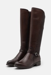 Tamaris - Vysoká obuv - mocca - 2
