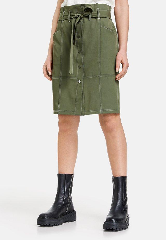 Jupe trapèze - botanical green