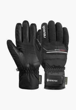 Gloves - black/white