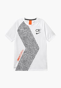 Nike Performance - CR7  - Triko s potiskem - white/black - 0