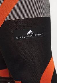 adidas Performance - PARLEY PRIMEKNIT RUNNING HIGH WAIST LEGGINGS - Leggings - black/white/orange - 6