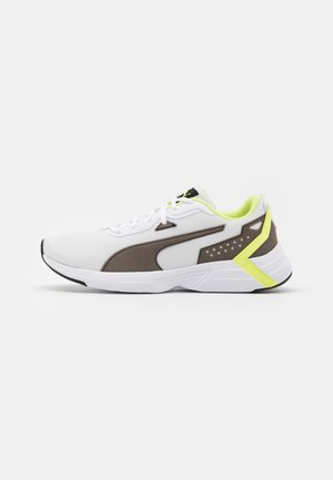 SPACE RUNNER UNISEX - Zapatillas de running neutras - white/black/fizzy yellow