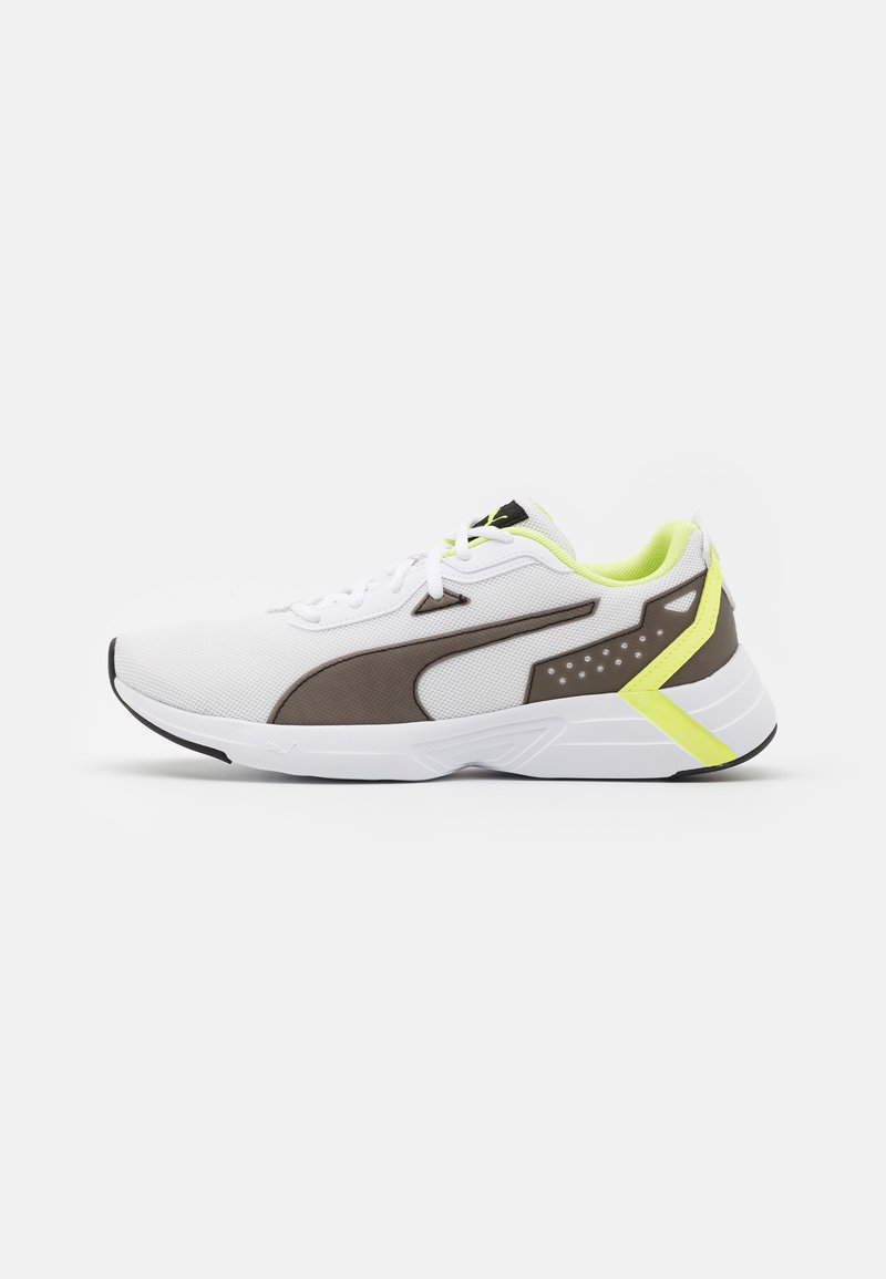 Puma - SPACE RUNNER UNISEX - Neutral running shoes - white/black/fizzy yellow