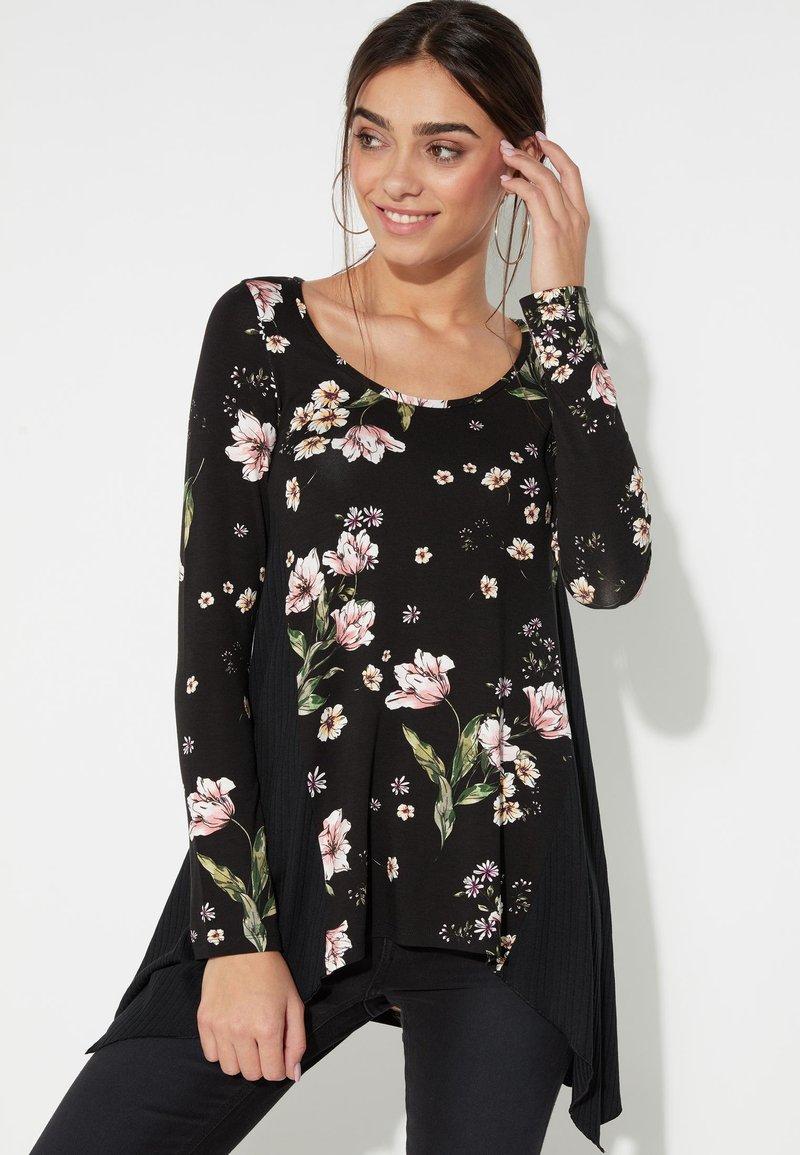 Tezenis - Long sleeved top - nero st.floral bouquet
