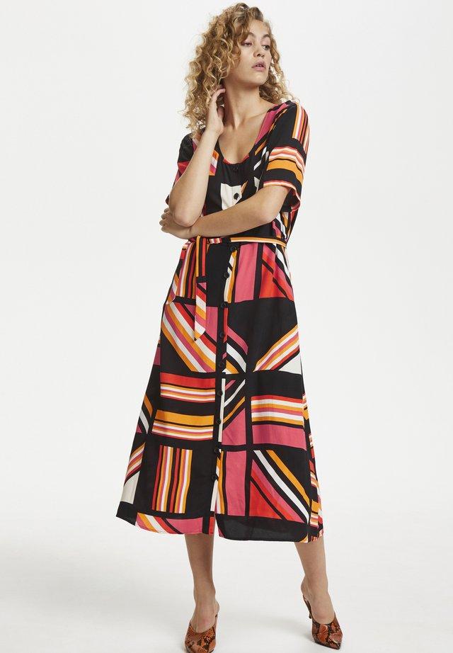 DHNICE  - Sukienka koszulowa - black orange