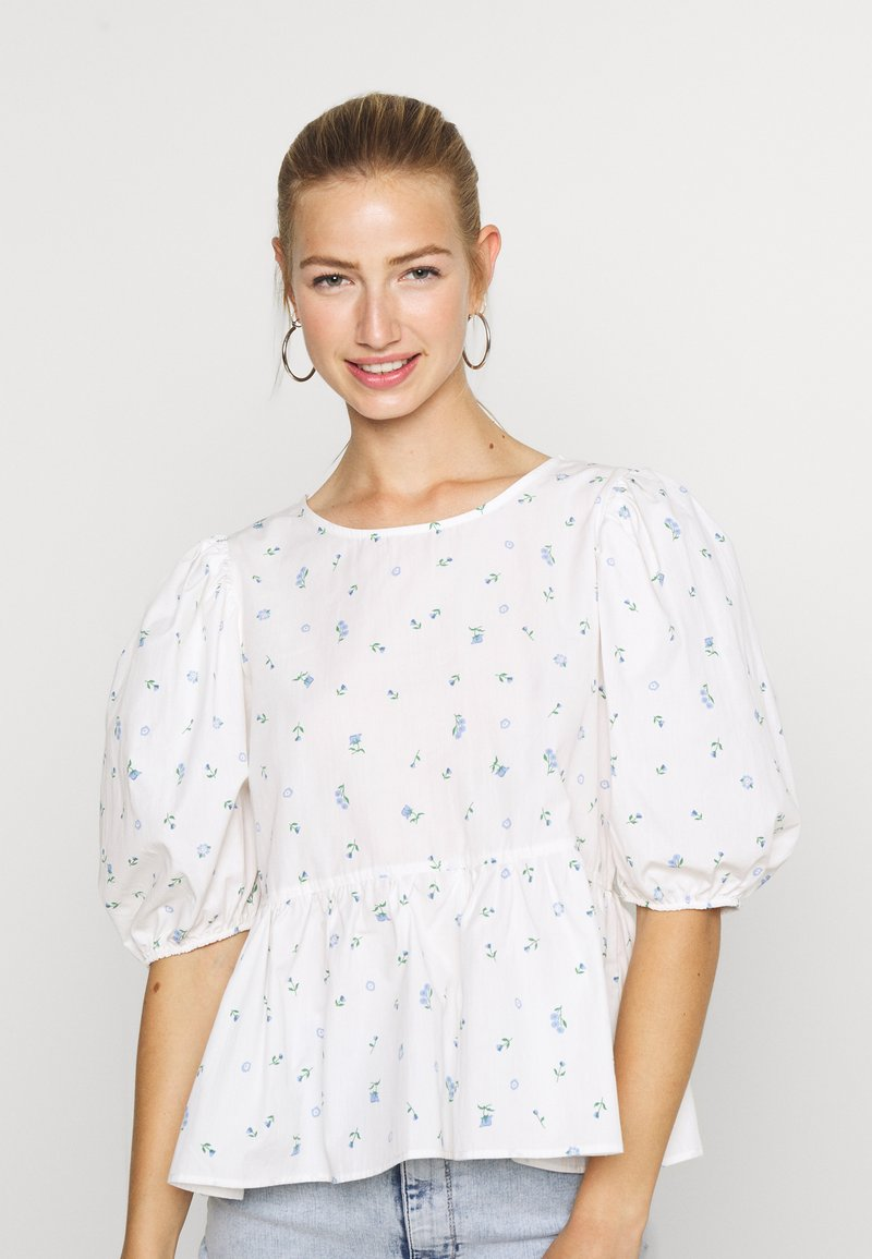 Monki - MELINA BLOUSE - Blouse - white