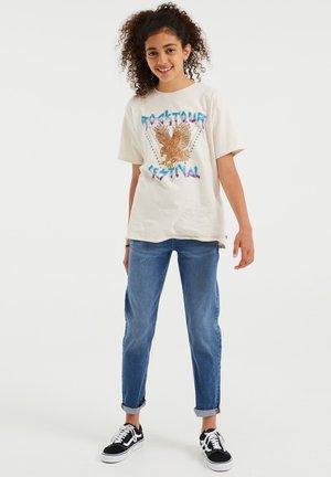 MET OPDRUK - T-shirt print - off-white