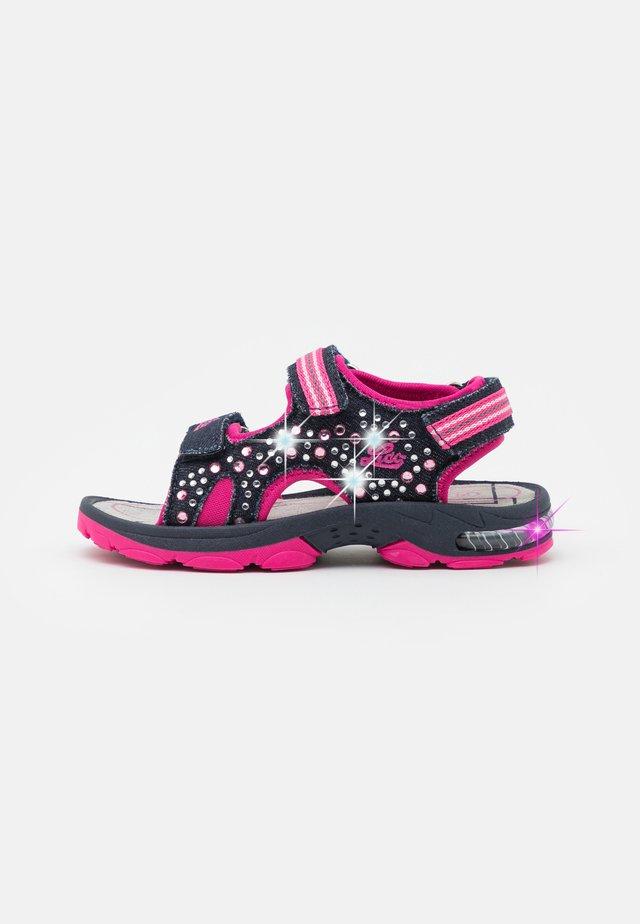 SPOTLIGHT  - Sandales - marine/pink
