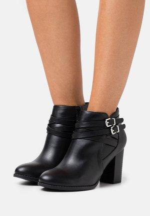 WIDE FIT WABERNATHY - Boots à talons - black