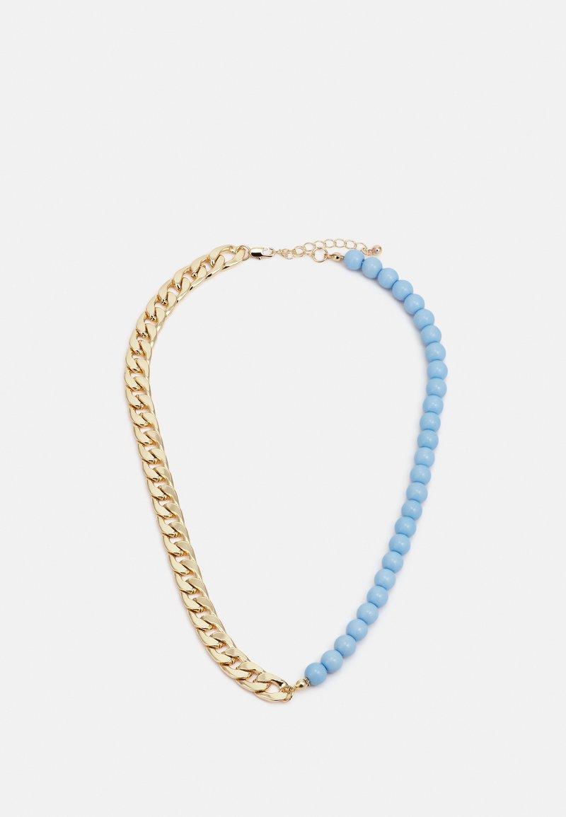 Pieces - PCBELLI NECKLACE - Necklace - gold-coloured/blue