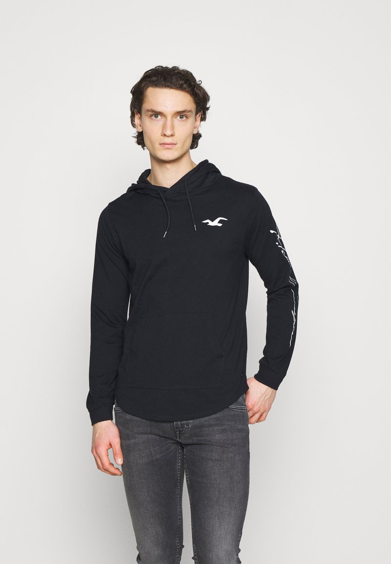 Hollister Co. - ICONIC HOODS  - Long sleeved top - black