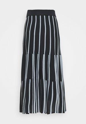 PRATO - Áčková sukně - navy blue