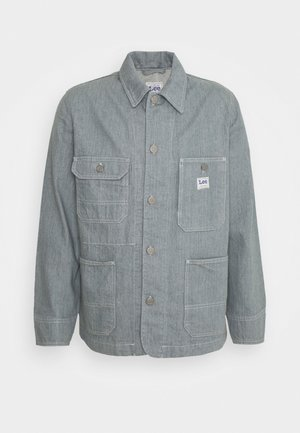 BOX POCKET LOCO UNISEX - Denim jacket - rinse