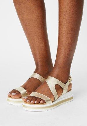 Sandali con plateau - platino