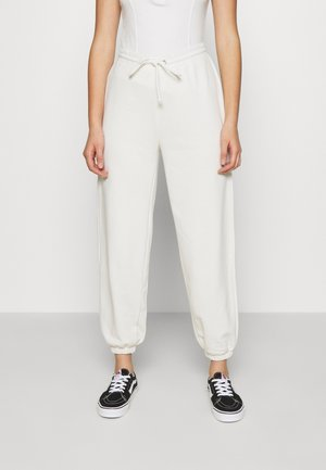DRAWSTRING  - Tracksuit bottoms - offwhite