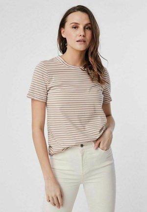 Camiseta estampada - beige/mottled beige