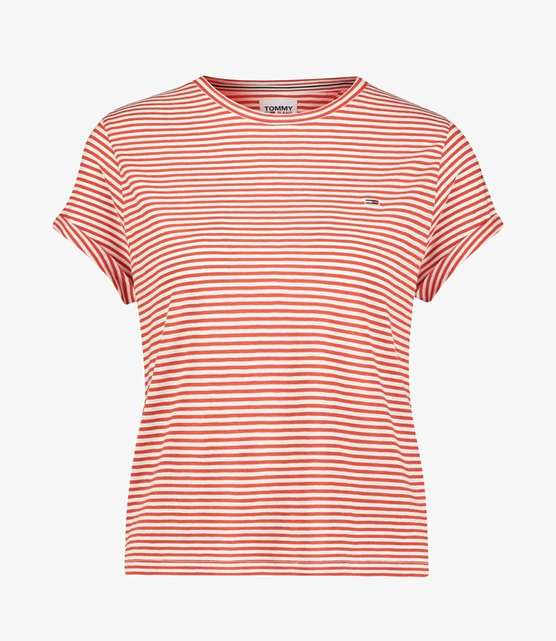 Tommy Jeans - RELAXED FIT - Print T-shirt - rot