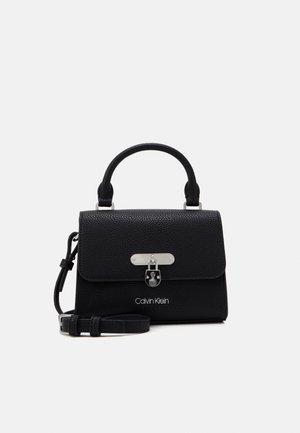 FLAP TOP HANDLE - Handbag - black