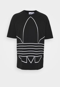 adidas Originals - OUT TEE - Print T-shirt - black/white - 3