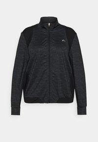 ONLY Play - ONPASIME CURVY - Training jacket - dark grey melange - 0