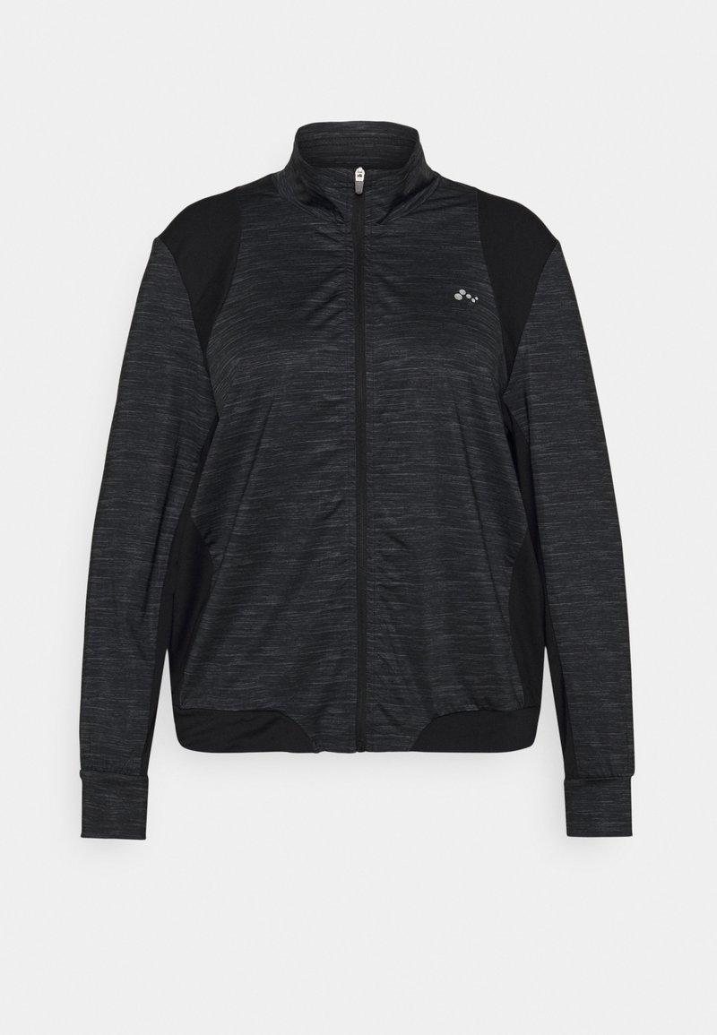 ONLY Play - ONPASIME CURVY - Training jacket - dark grey melange