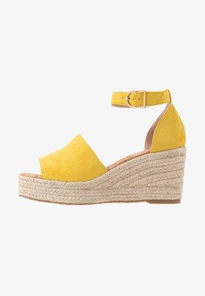 LIBERTII - High heeled sandals - bright yellow