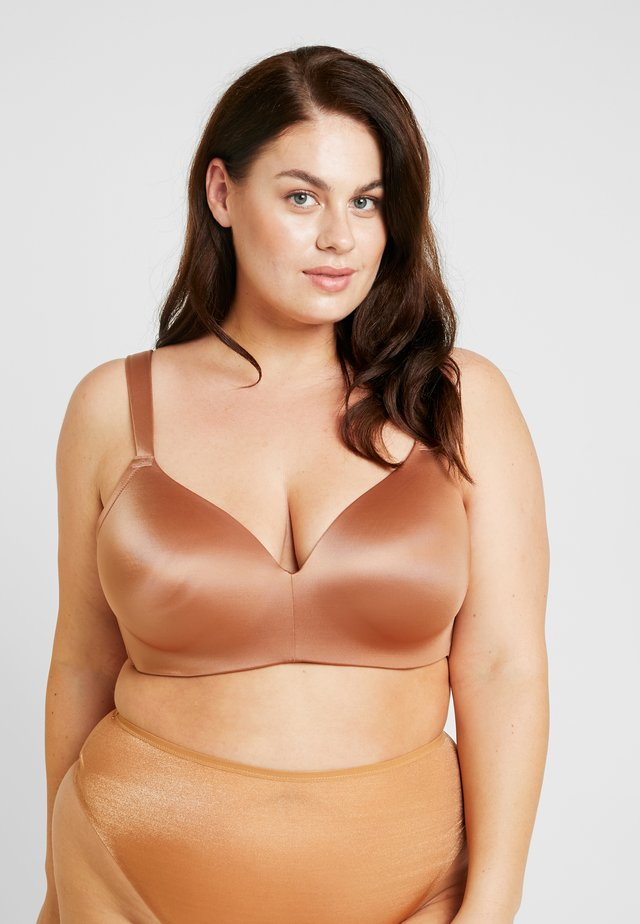 PLUS PADDED WIRELESS BRA - Triangel BH - tobacco