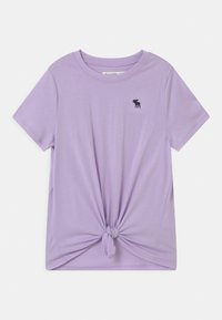 Abercrombie & Fitch - TIE FRONT  - Print T-shirt - lilac - 0