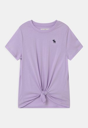 TIE FRONT  - T-Shirt print - lilac