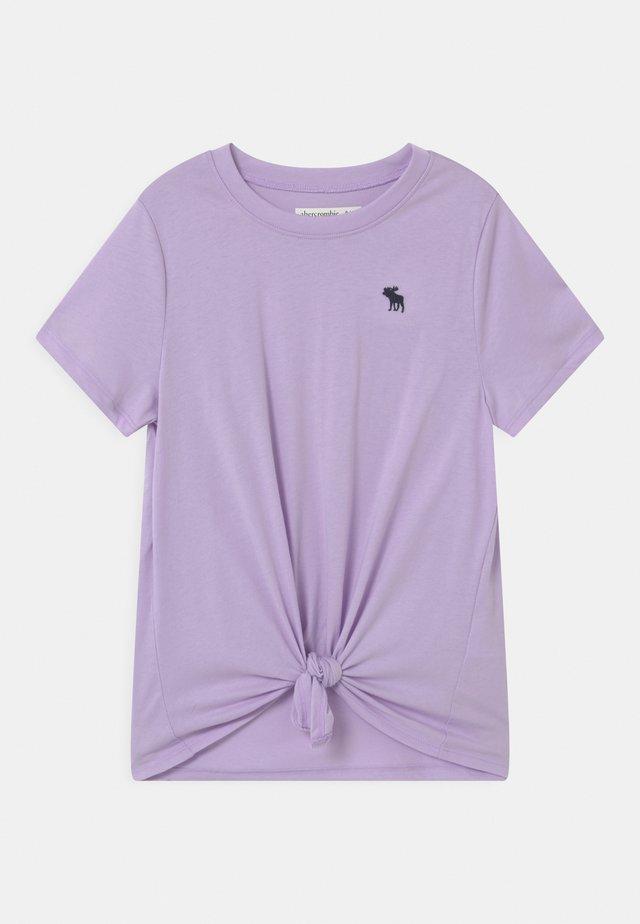 TIE FRONT  - T-shirt imprimé - lilac