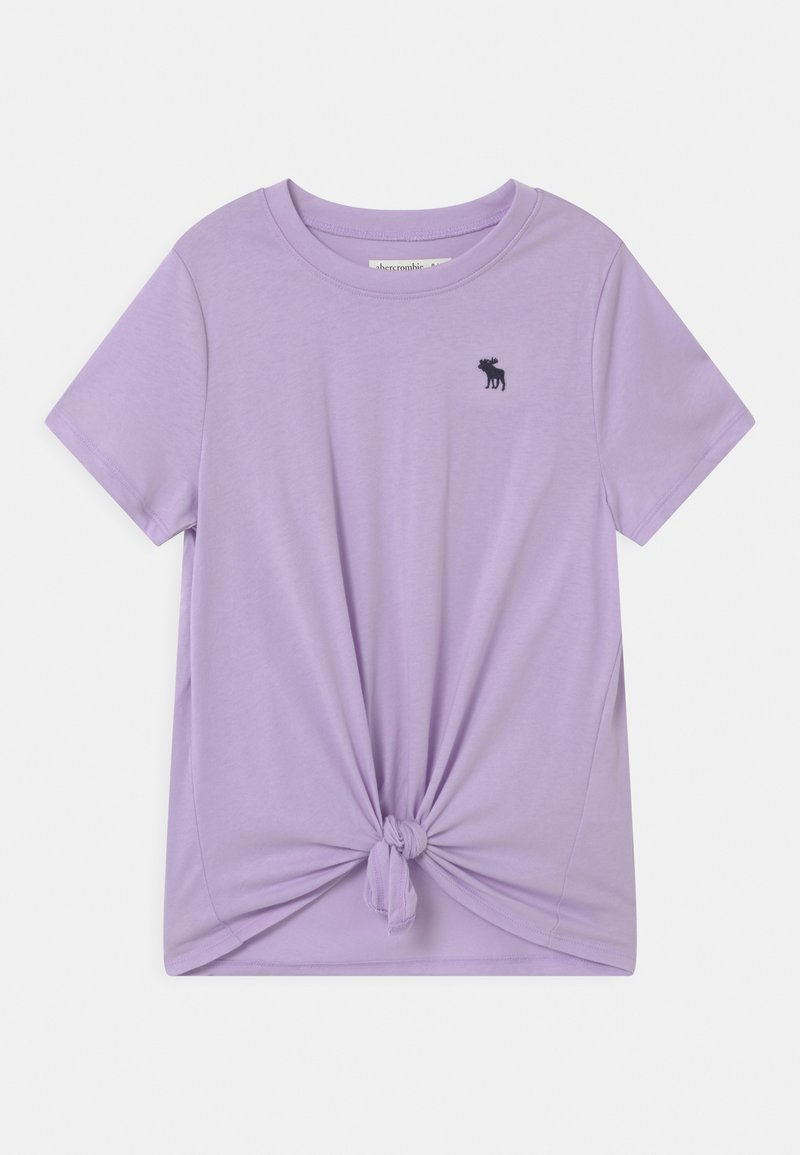 Abercrombie & Fitch - TIE FRONT  - Print T-shirt - lilac