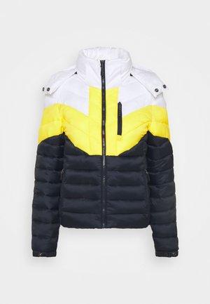 COLOUR BLOCK FUJI - Zimní bunda - yellow/navy