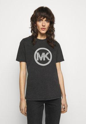 WASH - Camiseta estampada - black
