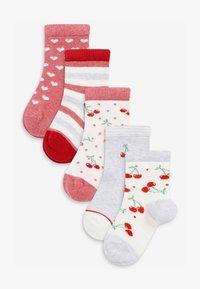 Next - 5 PACK  - Socks - red - 0