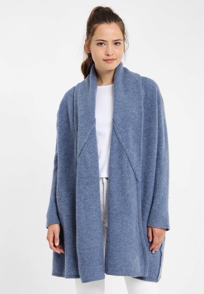 PONCHO COMPANY - Neuletakki - light-blue denim